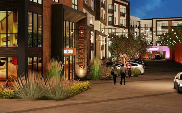 ALexan Monrovia Driveway perspective e1566511503539 587x366 - The Residences at Pacific City Wins 4 Gold Nugget Awards