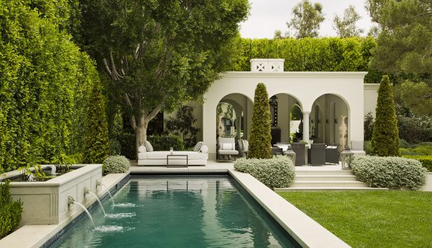 Mountain Drive Residence 1 Pool Outdoor 616x354 - Beverly Hills Residence Featured in Classicist No. 15