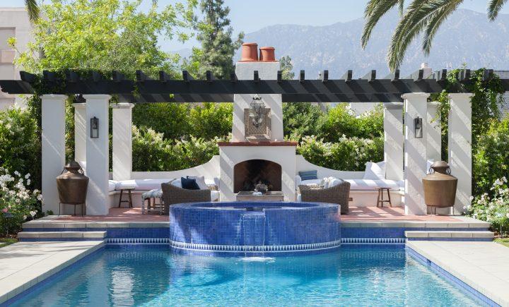 Rose Villa Residence 1 Outdoor Pool Fireplace Backyard 720x435 - Rose Villa